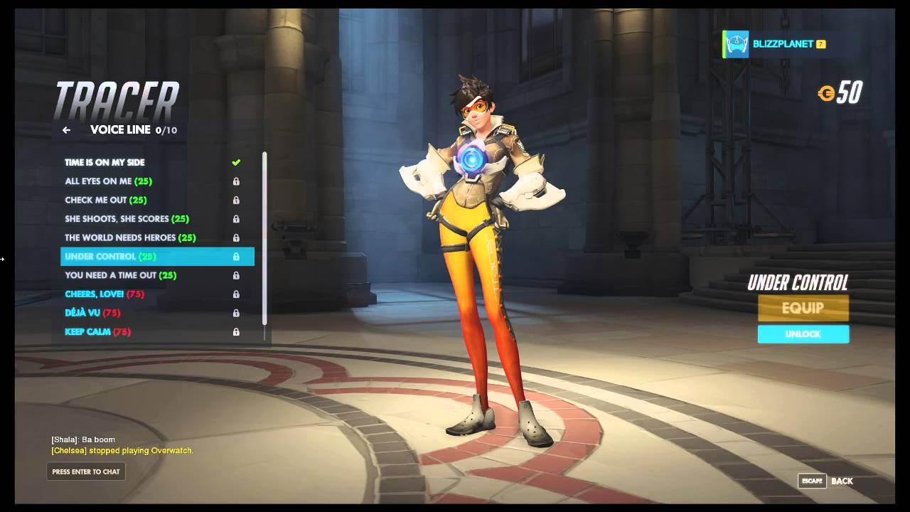 tracer voice lines overwatch youtube