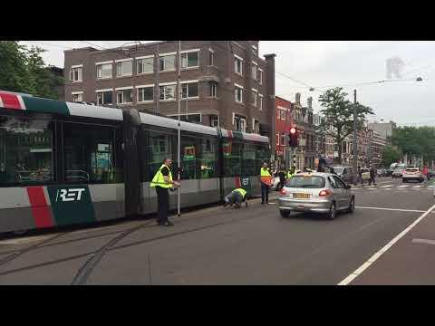 Ontspoorde tram staat