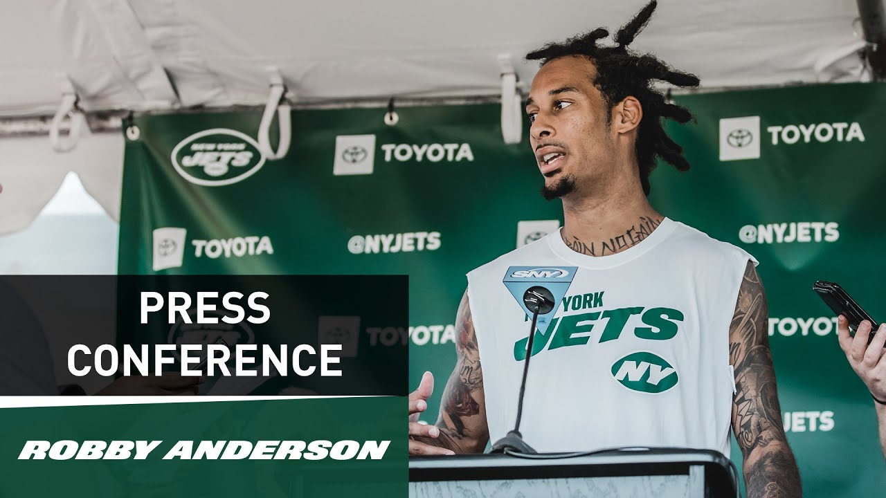 wholesale dealer c95bc b7866 Robby Anderson Press Conference (7/31) | New York Jets Training Camp | NFL