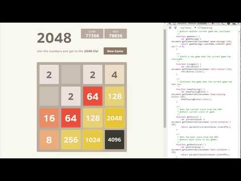 Fast 2048 Bot Gameplay (77k Score)