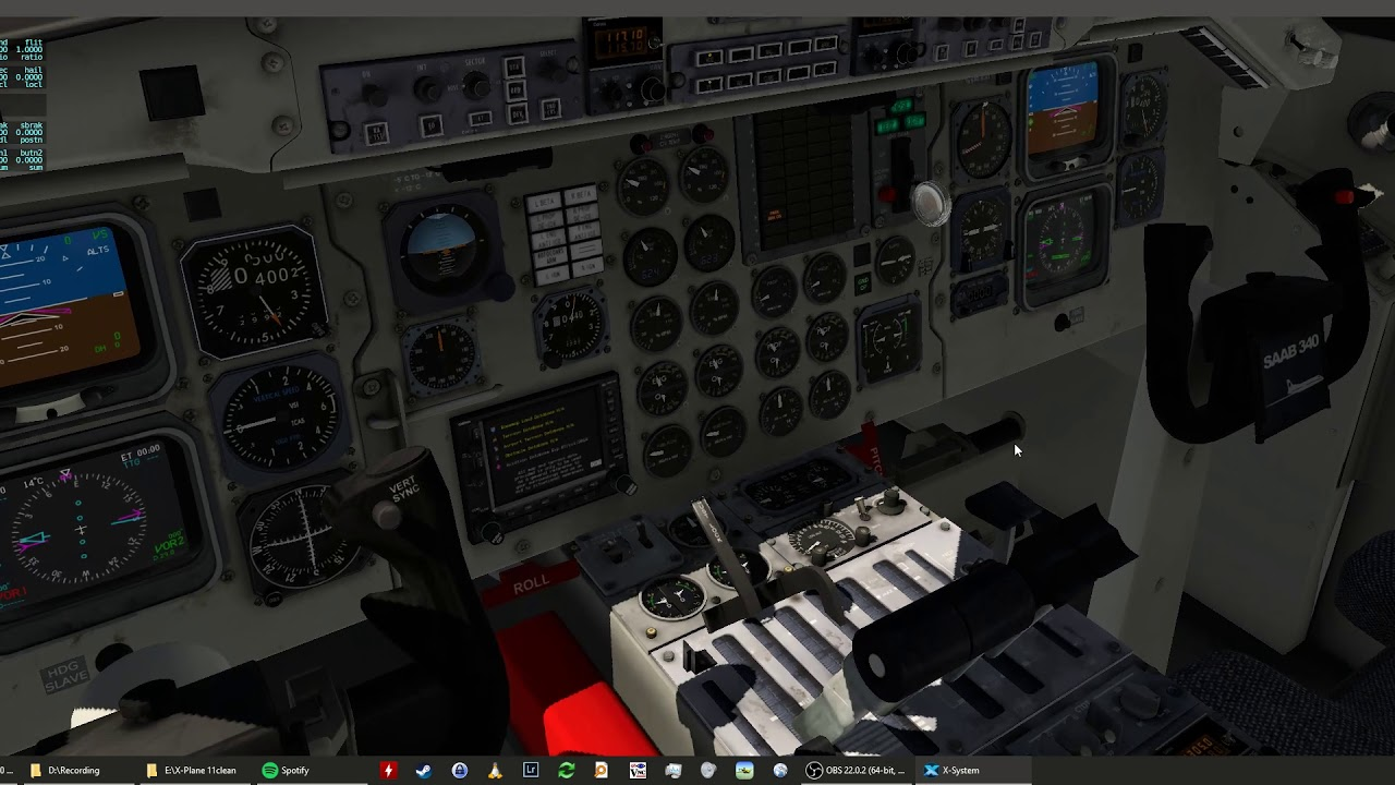 Plane banking to the left - Saab 340A - X-Pilot