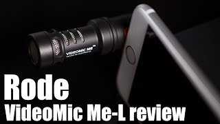 RODE VideoMic Me-L review - upgrade your iPhone audio!