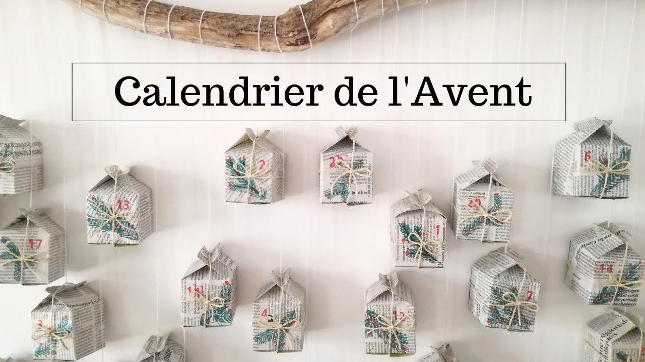 Calendrier De Lavant Maison.Deco De Noel Calendrier De L Avent Maison En Papier