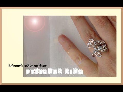 Schmuck selber machen: Designer Ring aus Aluminiumdraht - YouTube