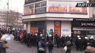 Huelga general contra la reforma de pensiones en Francia