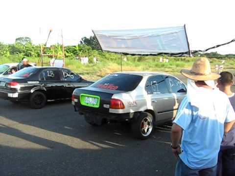 binalonan open drag race civic zc engine vs turbo civic