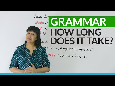 Learn English Grammar: How long does it take?