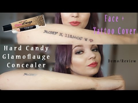 Glamoflauge Concealer & Tattoo Cover Demo + Review (Hard Candy ...