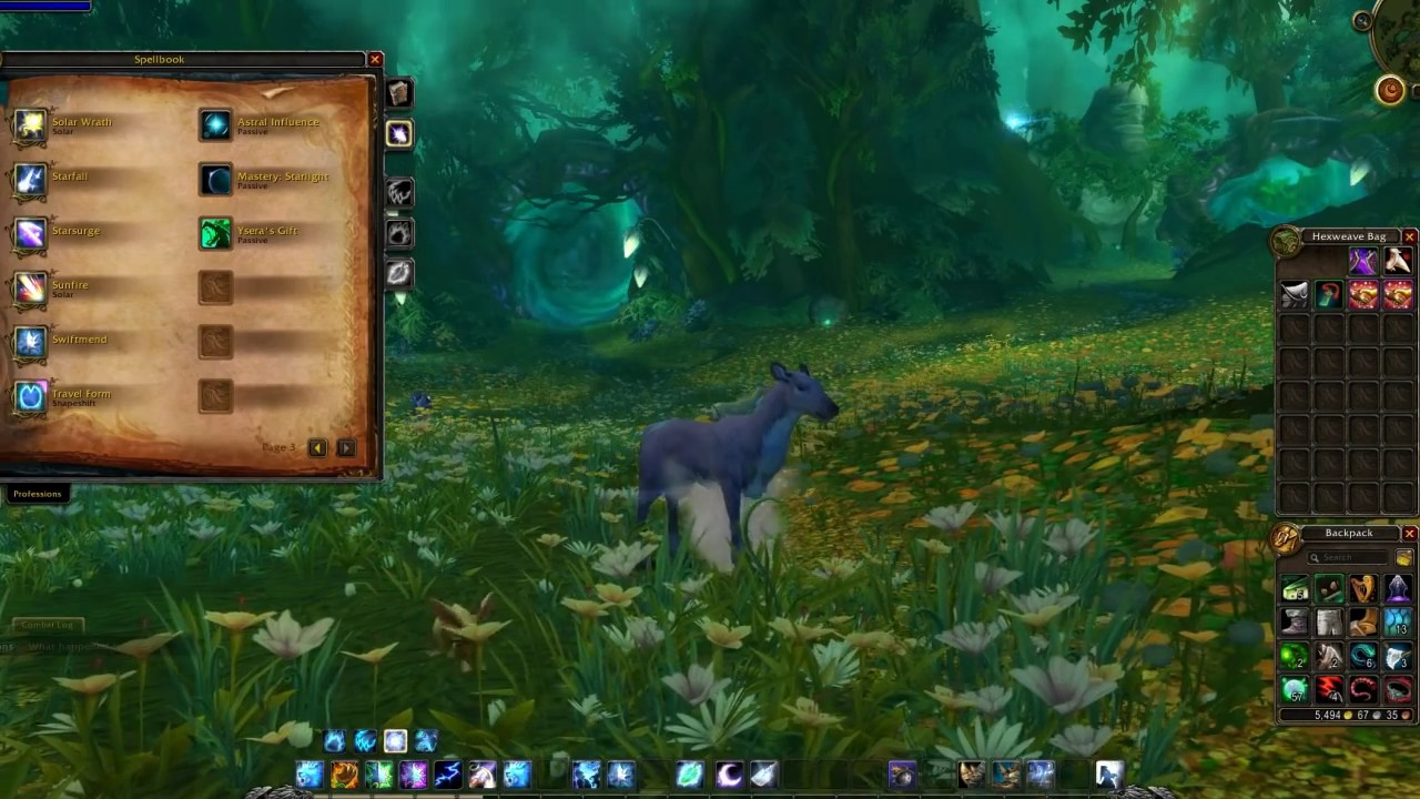 New Glyph of the Doe druid Travel form & How to get it - YouTube