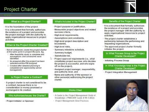 Project Charter- PMI- PBA- PMP PMBOK 5