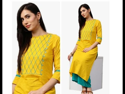 Yoke Style Pattern Design Kurti / Churidar for Office / Daily Wear - Very Simple & Easy design