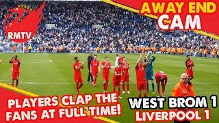 lfc players clap the fans at full time   west brom 1 1 liverpool   away end cam