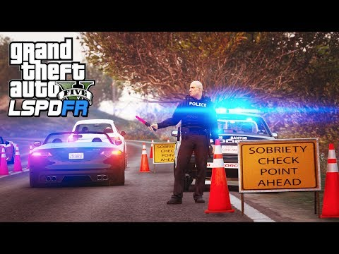 GTA 5 - LSPDFR Ep306 - DUI Checkpoint Multiple Arrests!!