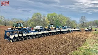 FIRST FIELD of 2020 Corn Planting with Big CHALLENGER MT800 Tractors