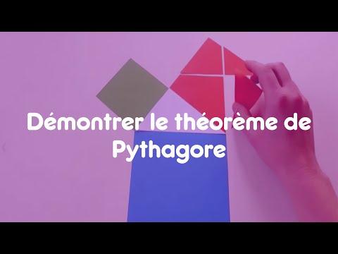 Démontrer le théorème de Pythagore avec du papier