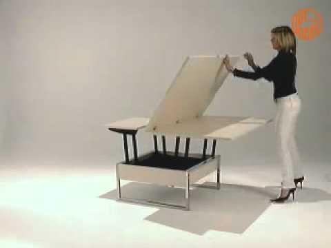 Didone R Tavolino trasformabile in tavolo da pranzo