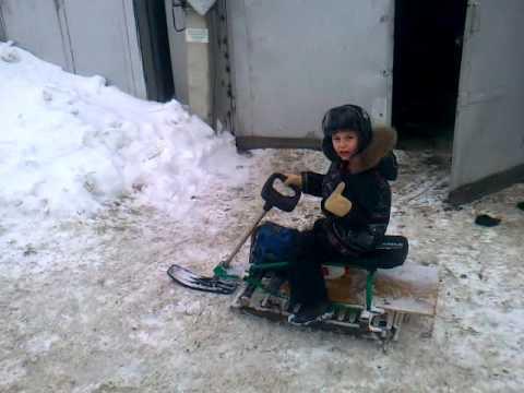 видео: Снегоход для сына!!!