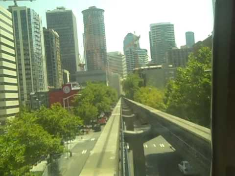 Onboard the Original 1962 Seattle Monorail to Westlake center