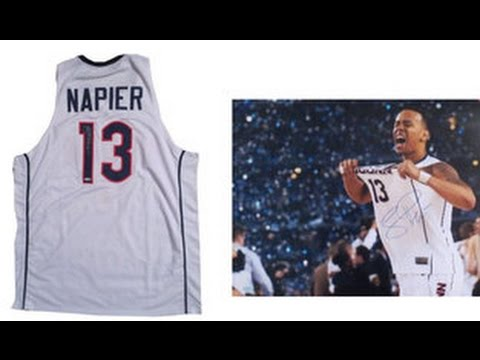 lowest price 83e16 809a0 Shabazz Napier Signed UCONN Jersey from Powers Autographs