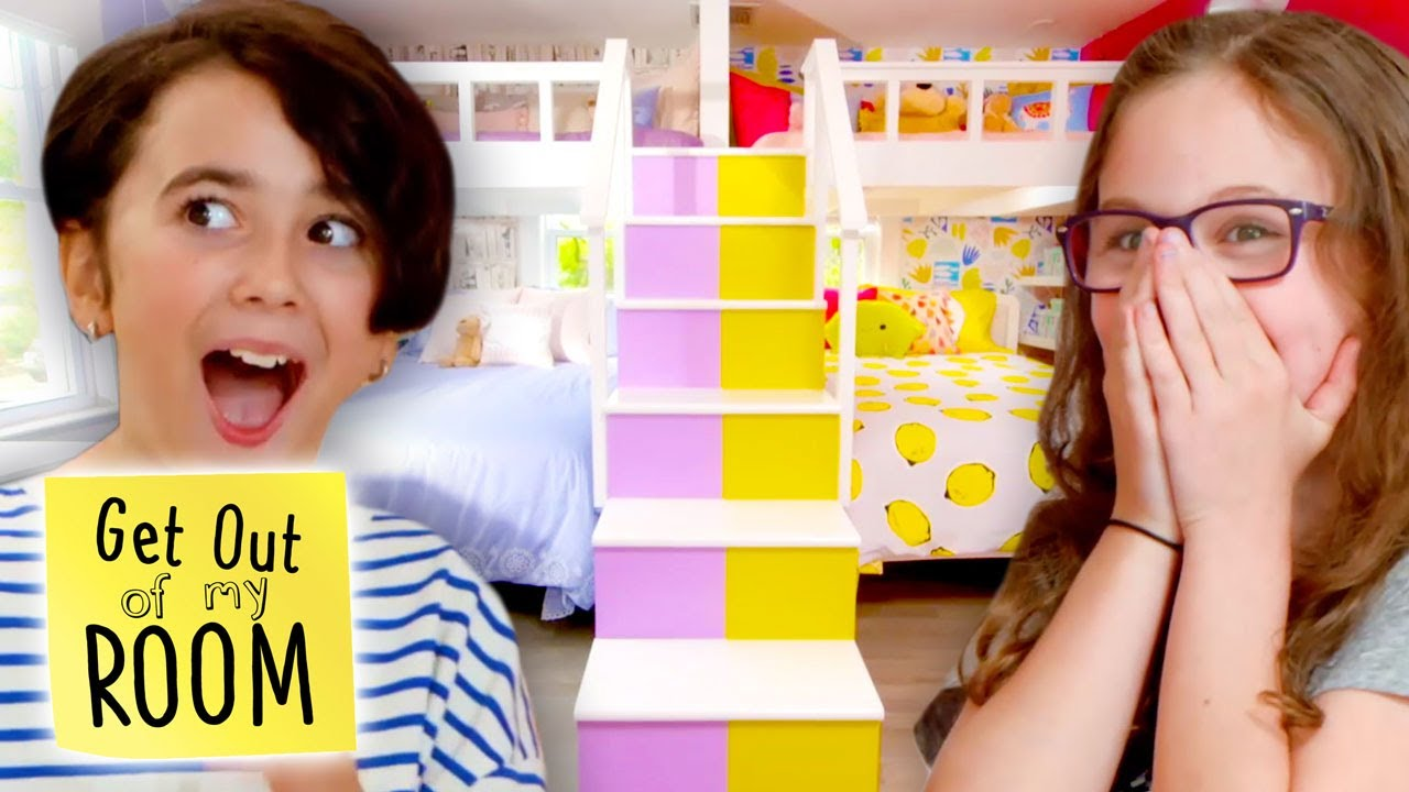 Download TOP 3 AMAZING Room Makeovers for Siblings with Shared Rooms!   Get Out Of My Room   Universal Kids