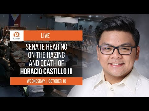 LIVE: Senate hearing on death of hazing victim Horacio Castillo III