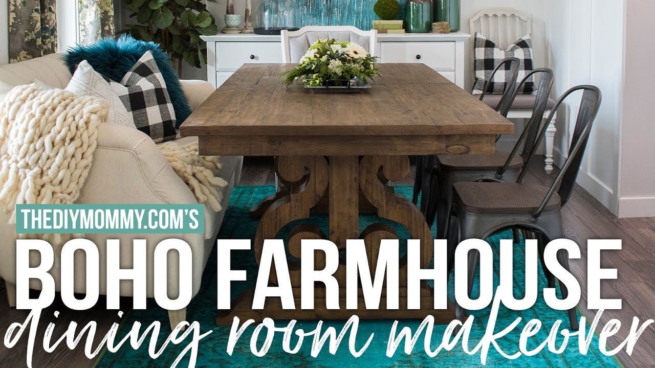 Boho Farmhouse Dining Room Reveal | Week 6 2017 Spring One Room Challenge