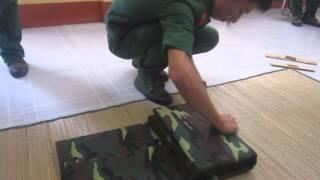 Cách xếp chăn màn trong quân đội - Hội trại Vĩnh Kim 2014