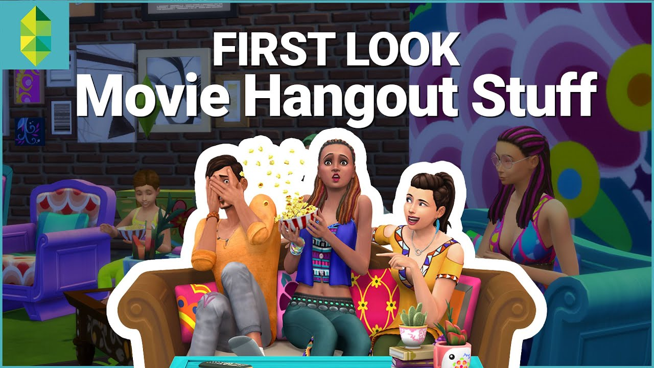 the sims 4 movie hangout stuff first look youtube
