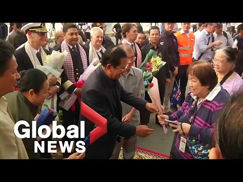 Coronavirus outbreak: Cruise ship passengers in Cambodia disembark after two weeks at sea
