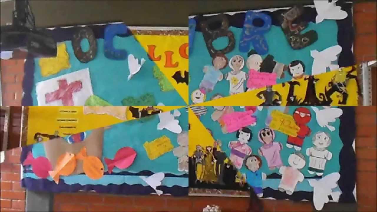 Periodicos murales octubre youtube for Murales faciles y creativos