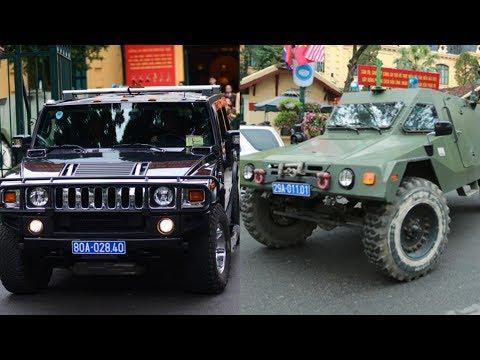 Xuất hiện  xe bọc thép đặc chủng hiện đại của Việt Nam bảo vệ Chủ tịch Kim Jong Un ở Ga Đồng Đăng