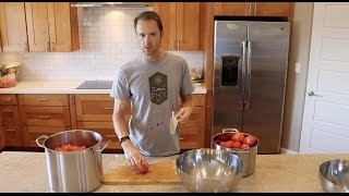 HOW TO CAN HOMEMADE SOS-FREE TOMATO SAUCE!
