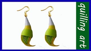 Paper quilling - Making new 2015 And 2016model earrings