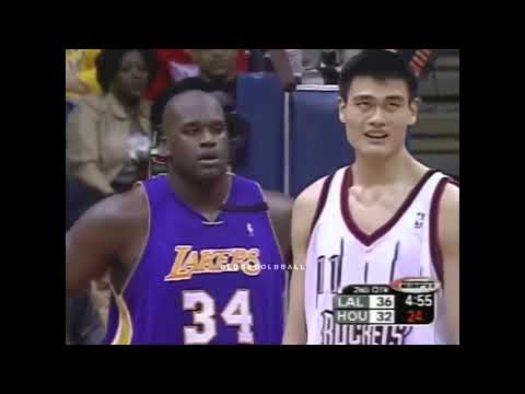 YAO MING Blocks SHAQ's First 3 Shots Then O'NEAL Gets Angry