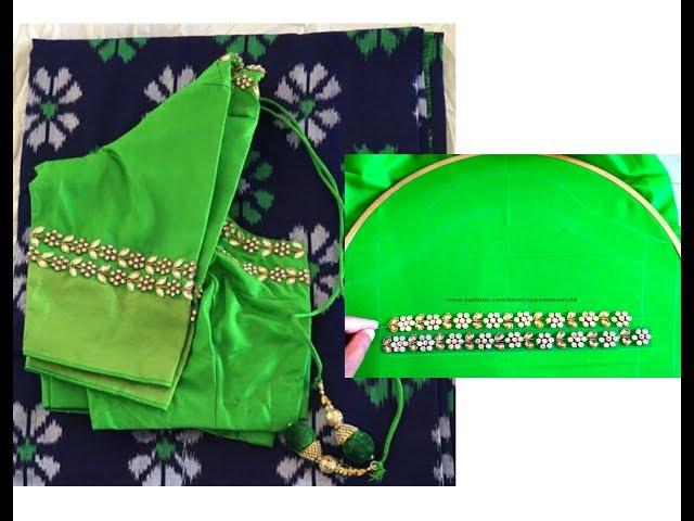 Elegant & Simple Designing  - Aari / Maggam hand Embroidery | Hand Stitches