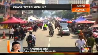 Phone interview with Dr Andrea on Astro Awani News