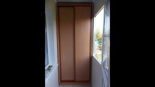 як зробити шафи на балконі фото