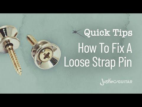 Quick Guitar Tips #20 - How To Fix A Loose Strap Pin - Guitar Lesson [QT-020]