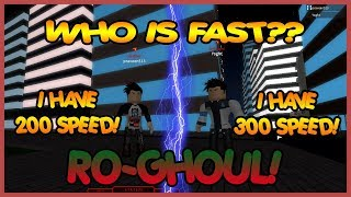INVESTING 200+ IN SPEED MAKES YOU FASTER? RO-GHOUL   Roblox