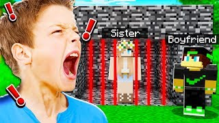 TROLLING MY LITTLE SISTER'S BOYFRIEND IN MINECRAFT!