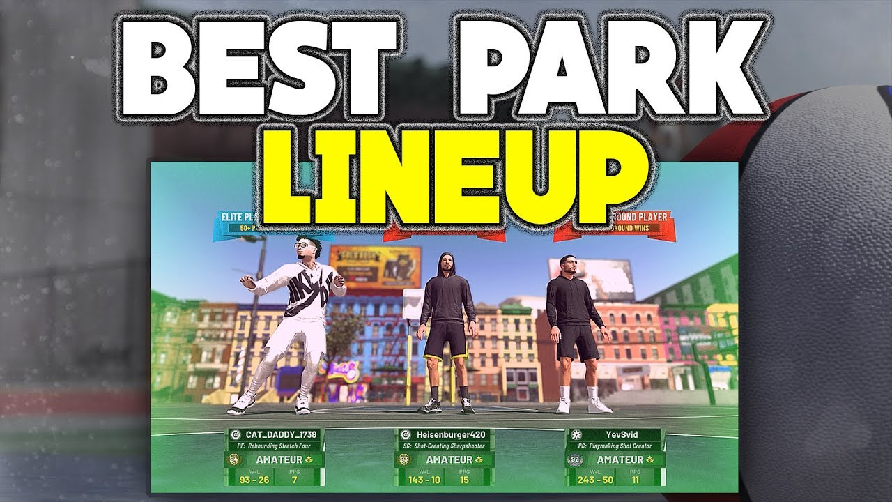 BEST PARK LINEUP FOR 3s IN NBA 2K19! HOW TO WIN EVERY SINGLE PARK GAME IN  NBA 2K19! BEST BUILDS 2K19