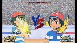 Pokémon Battle USUM Ash's Team Vs: Ash's Abandoned Team (Ash Vs Ash)