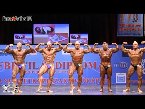 2012 Old Man Body Building Competition In Budapest  Men Over 65
