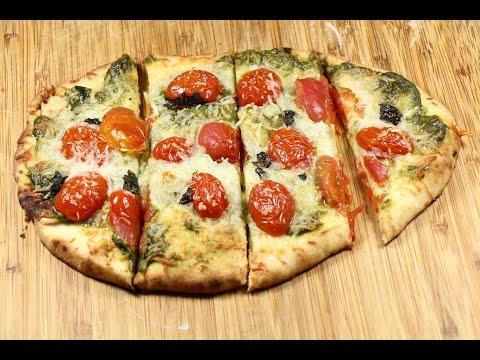 Basil Pesto Naan Pizza