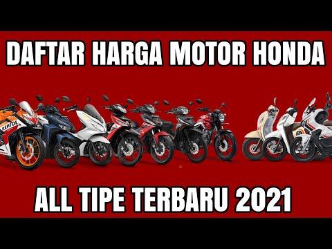 HARGA MOTOR HONDA TERBARU 2021 ALL TIPE
