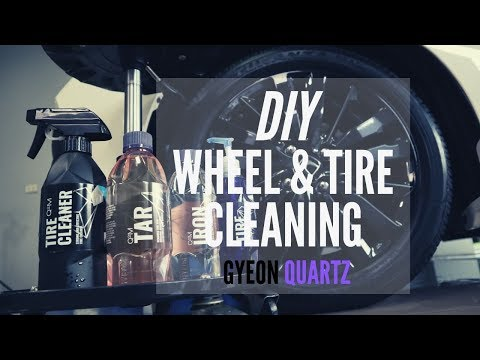 DIY Wheel and Tire Cleaning - Gyeon Q2M Tire Cleaner, Q2M Iron, Q2M Tar, Q2 Tire