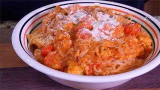 Parmesan Chicken Pasta in Vodka Cream Sauce (Made-In cookware )