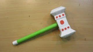 How to Make a Paper Thor Hammer ( World of Warcraft Doomhammer ) -  Easy Paper Hammer Tutorials