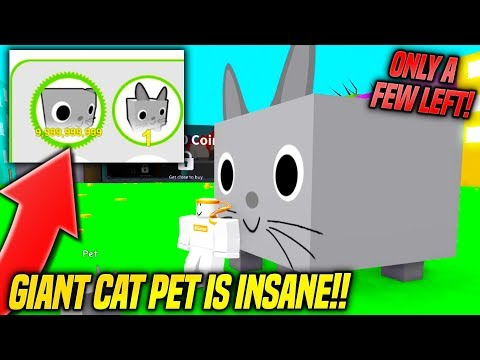 *HURRY* HOW TO GET THE GIANT CAT *BEST PET* IN PET SIMULATOR!! (Roblox)