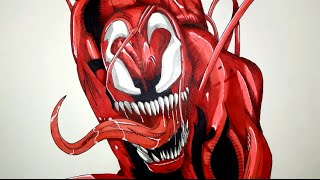 How To Draw Carnage From Spiderman Step By Step